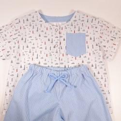 "Pyjama ""Phares et rayures"""