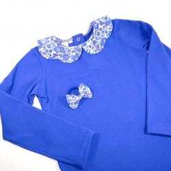 Top Jersey bleu roi