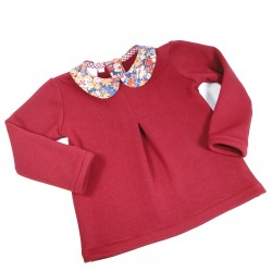 Sweat Bordeaux col Liberty