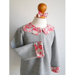 Sweat Gris Chiné col Liberty